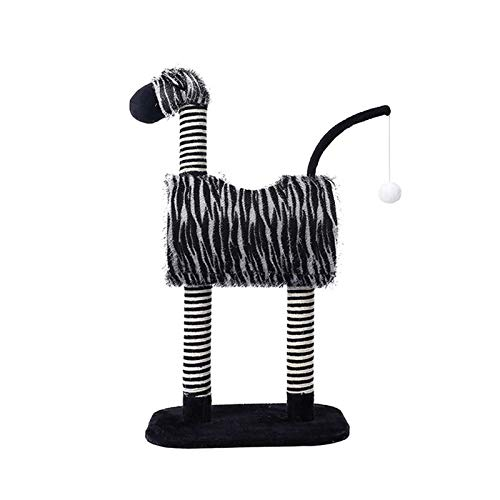 Jjwlkeji Árbol rascador para Gatos Cat Stiming Frame Cat Stand Nest Sisal Blanco Blanco Zebra Cat Glaw Board Nido Universal Jerard Simulation Cat Toy (Color : Black and White)
