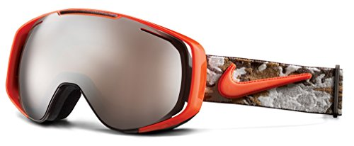 Nike Herren Schneebrille Vision Khyber L Baroque Brown/Team orange camo