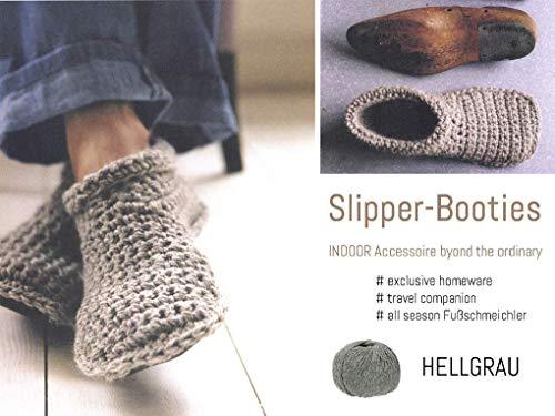 Slipper-Booties (Hausschuhe) aus 100% Alpaka | Größe 36/37 | HELLGRAU