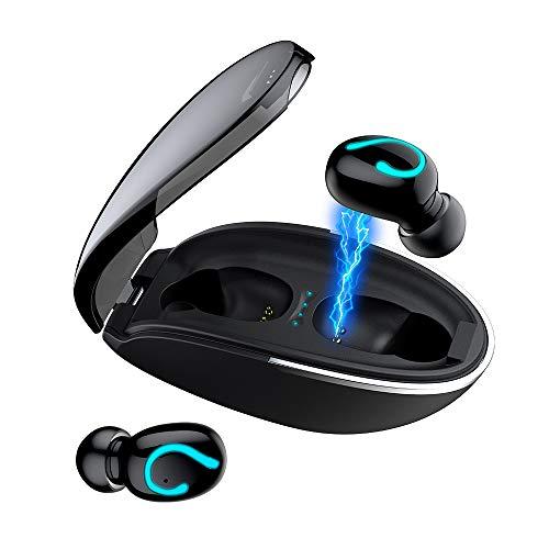 【2021進化版 耳掛け式Bluetooth イヤホン】Bluetooth イヤホン iPhoneイヤホン HiFi高音質 Bluetooth5.0 +EDR搭載 完全 ワイヤレス イヤホン 左右耳兼用 ハンズフリー通話 自動ペアリング スポーツ イヤホン