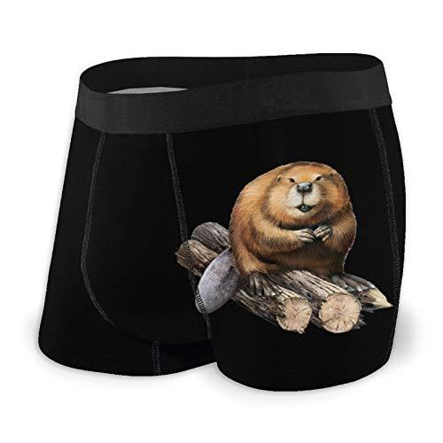 Calzoncillos boxer para hombre ajustados calzoncillos lindos marrón Marmot troncos ropa interior de secado rápido