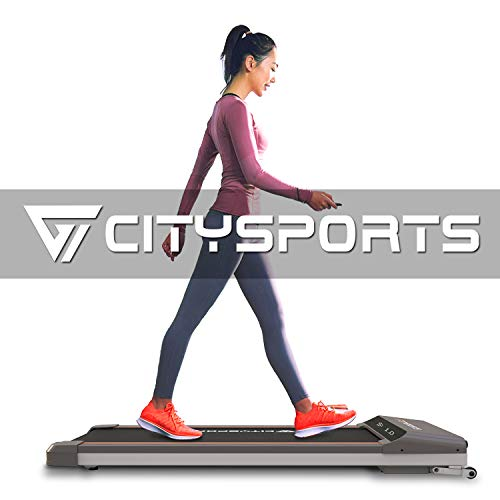 CITYSPORTS Folding Motorised Treadmill, 500W Motor, Adjustable Speed, LCD Screen, Folding walking treadmill for Home and Office