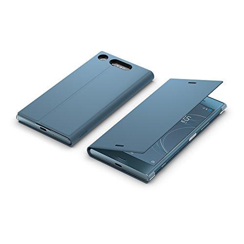 Sony Mobile Coque de Protection avec Support pour Sony Xperia XZ1 - Bleu