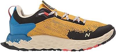 New Balance Men's Fresh Foam Hierro V5 Trail Running Shoe, Varsity Gold/Neo Classic Blue, 13 W US