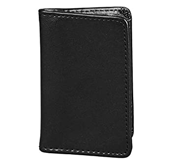 Samsill 81220 Regal Leather Business Card Holder Case Holds 25 Business Black