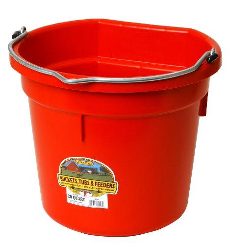 Miller Little Giant Farm & Ag P20FBRED 20 Quart Red Flat Plastic Bucket