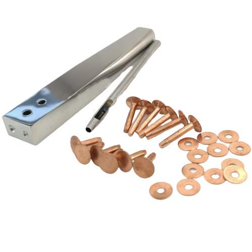Towonder Copper Rivets with Setters Rust-Proof Studs DIY Leather Craft Making Tool Kits Tack Repairs