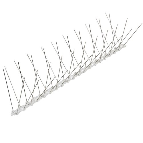 Yaheetech Vogelabwehr 10 × 50 cm Taubenspikes 4 reihig aus Edelstahl mit Clip-Verbinder