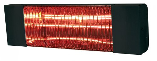 Rossignol - Calefactor radiante 1500 W, color negro lacado para montaje en pared de 3 puntos. Dimensiones: 47 x 13,5 x 6,5 cm.