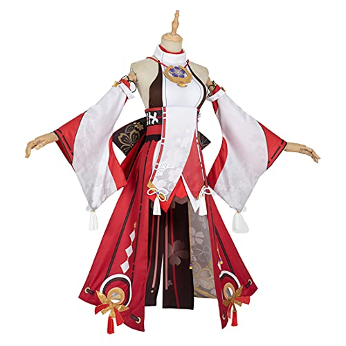 RAVPump Cosplay Costume, Genshin Impact Cosplay - Yae Miko Cosplay Outfit with Headwear