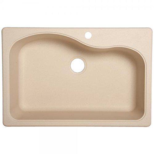 "Franke Gravity 33"" Dual Mount Granite Single Bowl Kitchen Sink, Champagne"