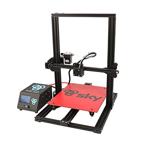 HE3D voorgemonteerde SKY 3D-printer met titanium textruder AC warmte bed volledig aluminium groot formaat 300 x 300 x 400 mm dubbele koppen als geschenk