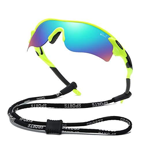 Bevi Polarized Sports Sunglasses for Men Women Baseball Running Cycling Golf Tr90 Durable and Ultralight Frame 2735C4