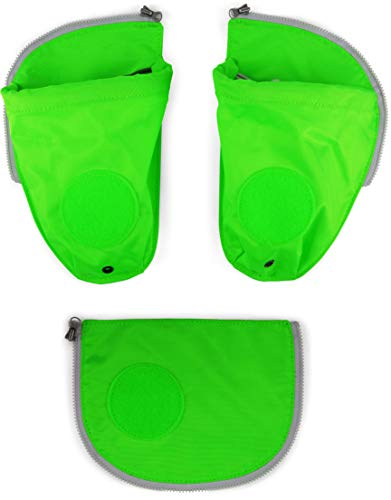 Ergobag Zubehör Pack Seitentaschen Zip-Set 3-TLG. fluoreszierned grün -2018