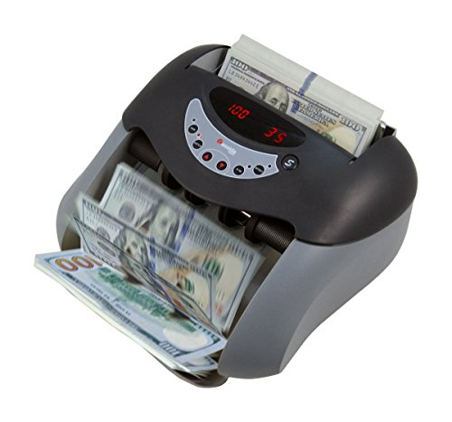 Cassida USA Money Counter 5520 UV Counterfeit Bill Detection w/ ValuCount mode to Batch Financial Reports, Black, Silver…