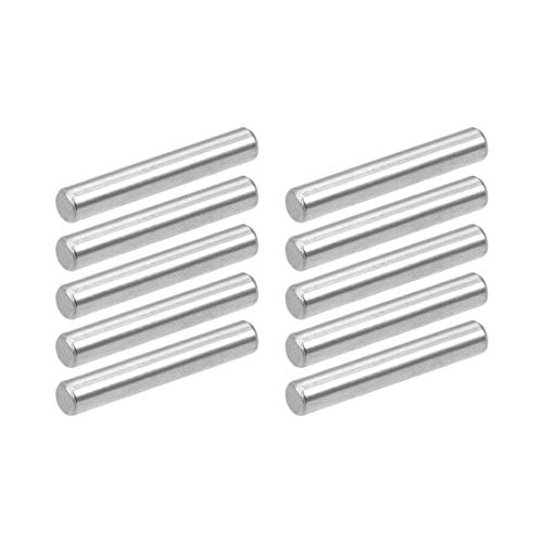 uxcell 10Pcs 4mm x 25mm Dowel Pin 304 Stainless Steel Pegs Support Shelves Silver Tone
