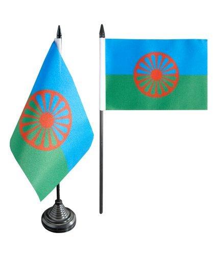 Flaggenfritze® Tischflagge Sinti und Roma - 10 x 15 cm