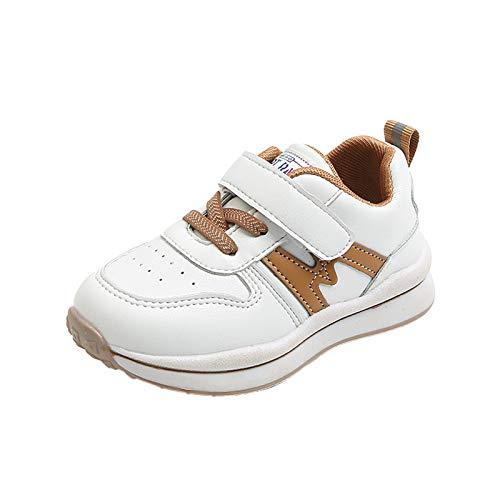 Dinnesis Zapatos de bebé para niñas, jóvenes, de piel, transpirables, suaves, zapatos de piel suave, zapatos de aprendizaje, 1-6 años de edad, caqui, 26