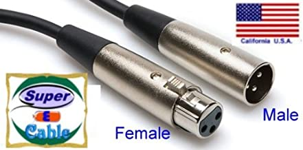 SuperEcable - 20878-3 Ft - XLR Male to Female Audio Cable