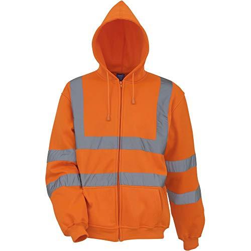 YOKO Sweat-Shirt zippé à Capuche Haute visibilité