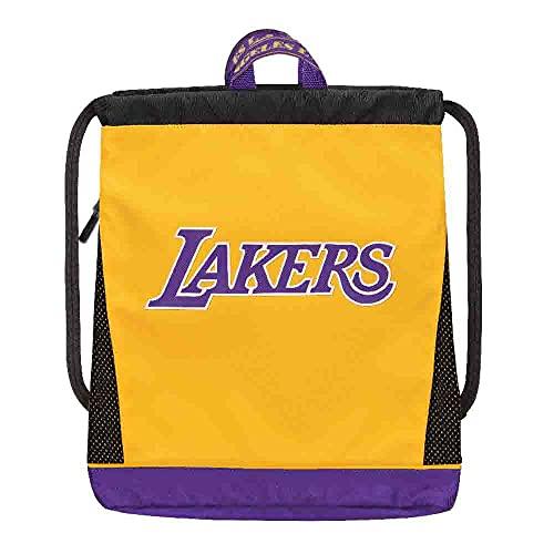 Panini Mochila con cordón de la NBA Los Angeles Lakers Yellow-Purple 64760