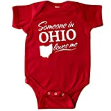 inktastic Someone in Ohio Loves Me Infant Creeper 6 Months Red 33a98