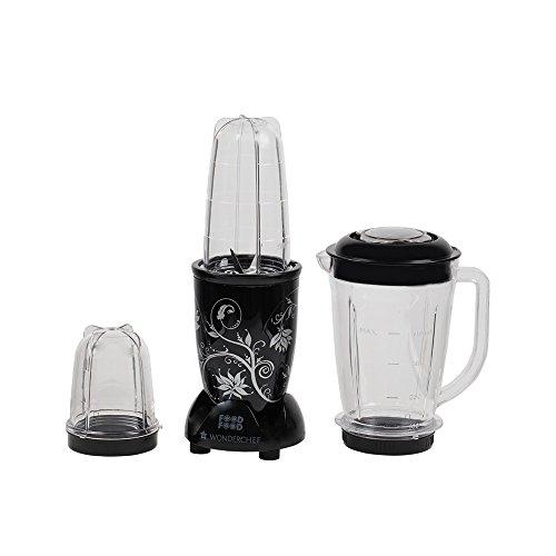 Wonderchef Nutri-Blend 63152293 400-Watt Mixer Grinder with 3 Jars (Black)