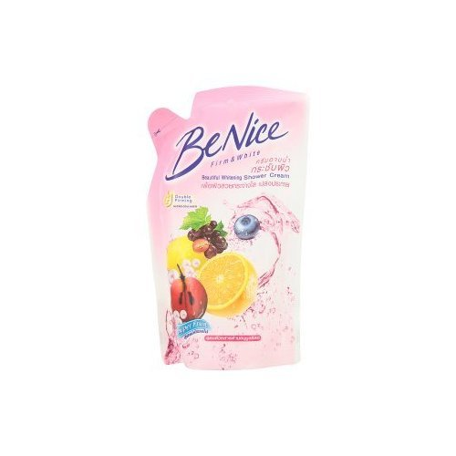 Be Nice : Beautiful Whitening Shower Cream Fruit Mixture & Whitening Complex 200 ml. (Refill) Best Seller of Thailand... by jofalo