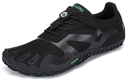 SAGUARO Barfußschuhe Barfussschuhe Herren Damen Minimalistische Trail Laufschuhe Zehenschuhe Joggen Wandern Training Barfuß Sportschuhe Fitnessschuhe Männer Frauen, Tinte schwarz, 41 EU