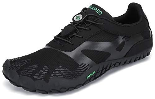 SAGUARO Barfußschuhe Barfussschuhe Herren Damen Minimalistische Trail Laufschuhe Zehenschuhe Joggen Wandern Training Barfuß Sportschuhe Fitnessschuhe Männer Frauen, Tinte schwarz, 37 EU