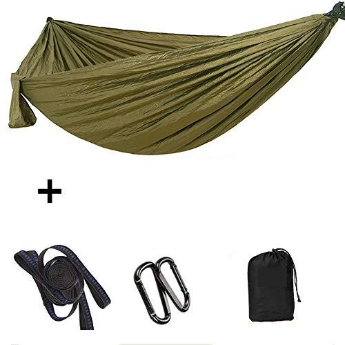 Extra Grote Tweepersoons Parachute Hangmat Lichtgewicht Camping Hangmat, Met Boombanden En Karabijnhaken Maximale Belasting 200Kg,1