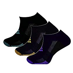 TRUEENERGY: Lo-Cut Socks with Infrared Thread- Pain Relief & Circulation Help for Nurses & More (3-Pack, Black Assorted, L/Xl)