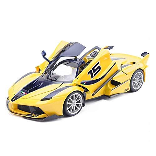 FXLYMR Juguetes Educativos, Juguetes para Niños, Juguetes para Niña, Juguetes de Automóviles, Modelos de Automóviles, Modelos de Automóviles 1:18 Ferrari Fxxk Super Running Modelo Simulación Aleación