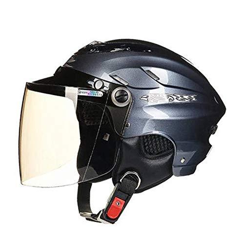 Cascos de motocicleta, cascos de bicicleta, casco de motocicleta Femenino de Cuatro Estaciones Generales de Vehículo Eléctrico Casco de Invierno de Cubierta Completa Cálido Casco de Plata1