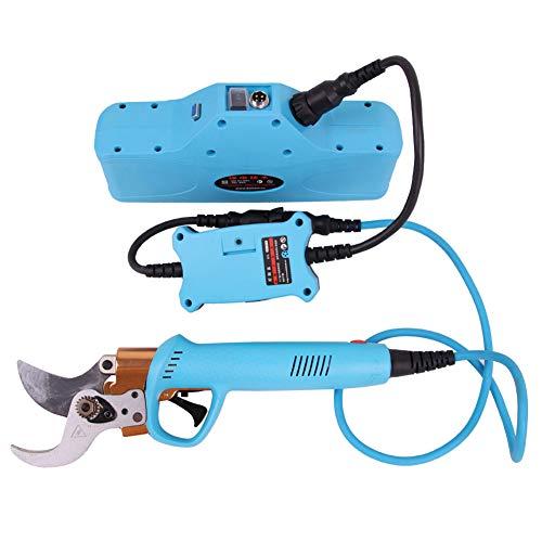 Professionele Snoerloze Elektrische Snoeischaar Met 2-pack Back-up Oplaadbare 2ah Lithiumbatterij Snoeischaar, 45 Mm Snijdiameter, 10-13 Werkuren