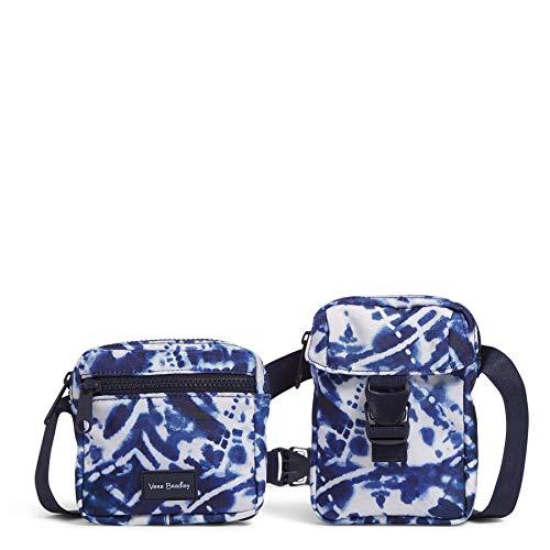Vera Bradley Recycled Lighten Up Reactive Convertible Belt Sling Crossbody Bag, Island Tie-Dye