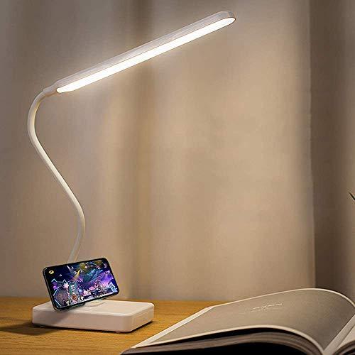 Lampe de Bureau LED Sans fil Rechargeable USB Batterie 2000mah, Tactile Dimmable Intensité 3 Couleurs Modes , Lampe Lecture Tableau Enfant Chambre Chevet