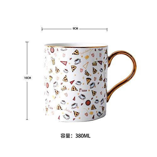 Erdbeerkaffeetasse Keramikbecher kreatives niedliches Haushaltswasserbechermilchfrühstücksbecher-Paarbechergeschenk