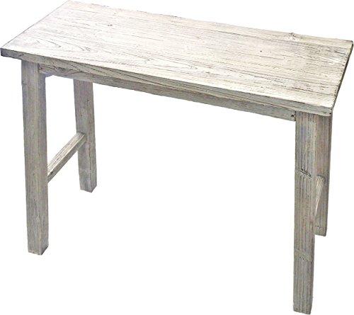 ガーデンガーデン 天然木製 ホワイトスツール型花台(フラワースタンド) Lサイズ1台 80cm*68cm*25cm プランターラック YT-8068