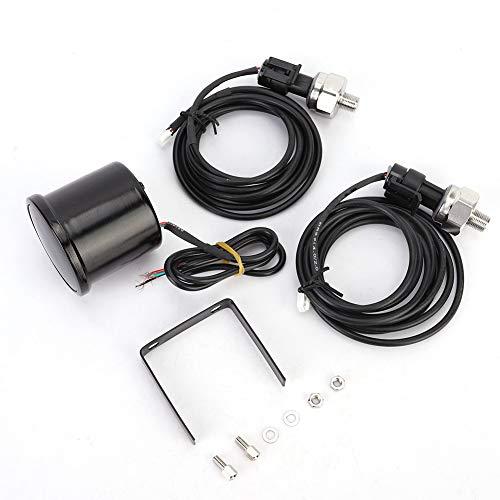 Manomètre de pression d air, 2 pouces 52 mm de voiture PSI Manomètre de pression d air LED Double affichage numérique Kit de capteur de jauge de conduite d air