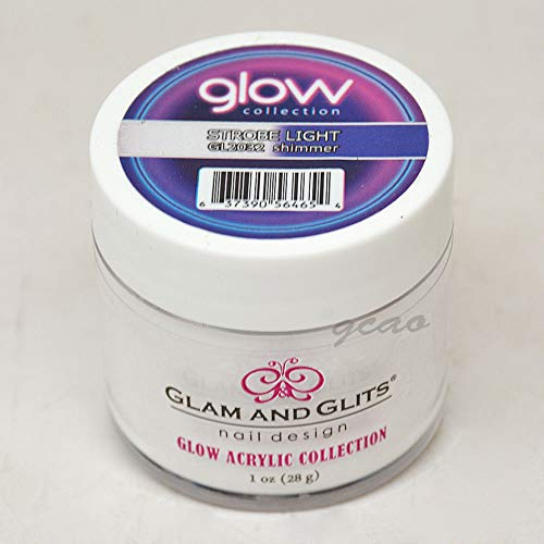 Glam and Glits ACRYLIC Glow in the Dark Nail Powder - Strobe Light 2032