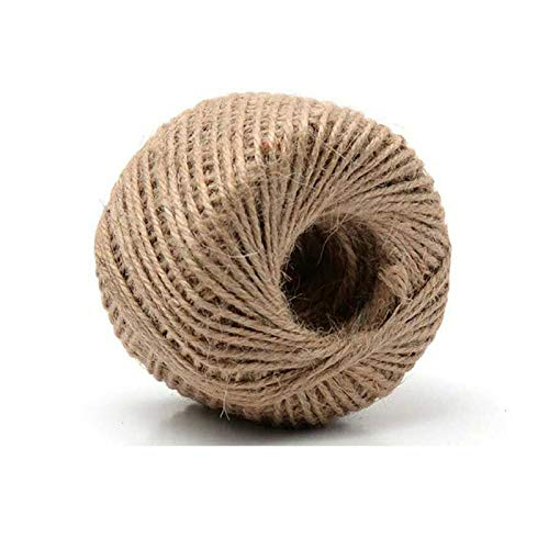 TRRAPLE 115 Feet Natural Jute Twine, Heavy Duty Natural Jute Rope String 3 Ply Gift Wrapping String for Arts Crafts and Gardening Applications
