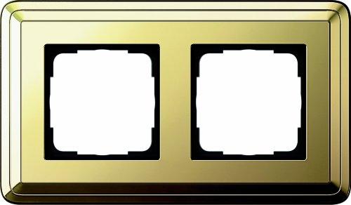Gira 0212631 Abdeckrahmen 2-fach ClassiX Messing