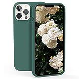 ZELAXY Funda de Silicona Compatible con iPhone 13 Pro MAX (6.7) Carcasa Rigida Antigolpes con Interior de Microfibra Fina Suave y Fácil Agarre –Pino Verde