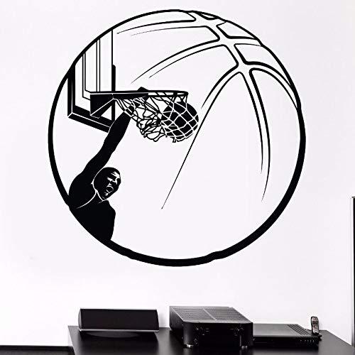 Crjzty wandtattoo auf Fliesen Basketball Wandaufkleber Basketball Globus Wandtattoos Sport Fans Wandbilder Wandbilder bewegliche Sportler Vinyl Wandtattoos