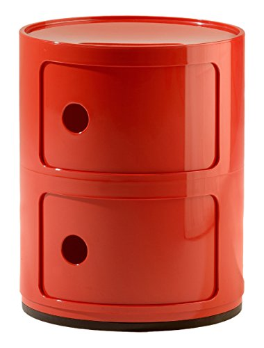 Kartell Componibili,  2 Elements, Rot,  Runde Basis