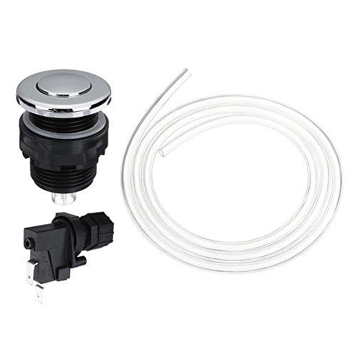 GOZAR 25V-250V Interruptor De Baño Neumático Aire Botón Kit De Basura Eliminación De Basura Eliminador De Aire Kit De Interruptor - 34M