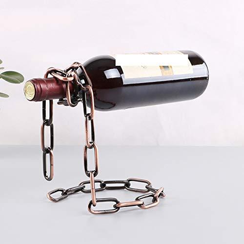 DAXINYANG - Soporte mágico de Metal para Colgar Cadenas de Vino, Estilo Retro Europeo, Hecho a Mano, para Bar de Restaurante, Soporte de exhibición, Color Bronce