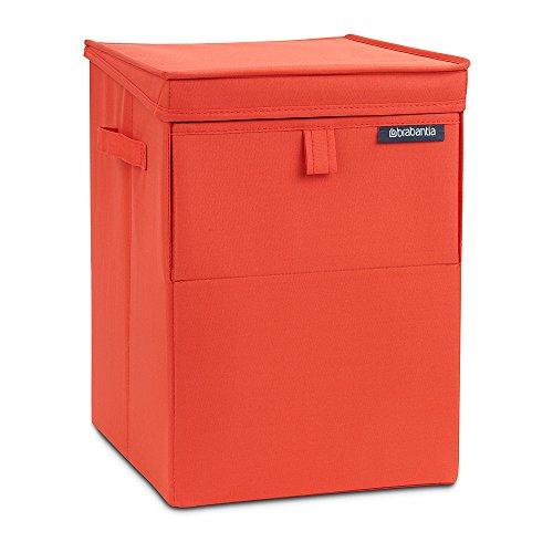 Brabantia 109362 - Caja apilable para la Colada, Color roja