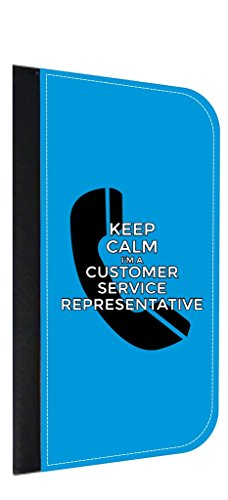 Keep Calm I'm a Customer Service Representative Jacks Outlet Samsung Galaxy s8 Phone Case with Closing Flip Cover and Credit Card Slots